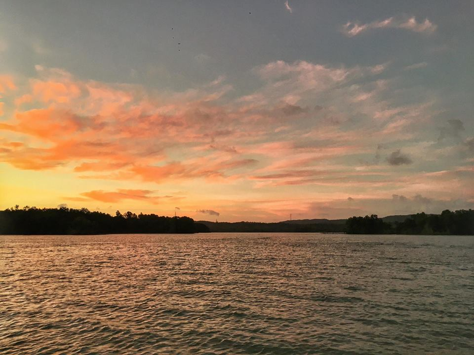 Aquascape sunset
