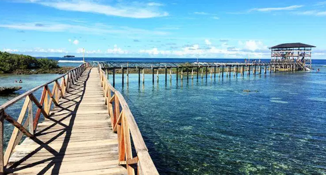 popular surfing destination in Siargao