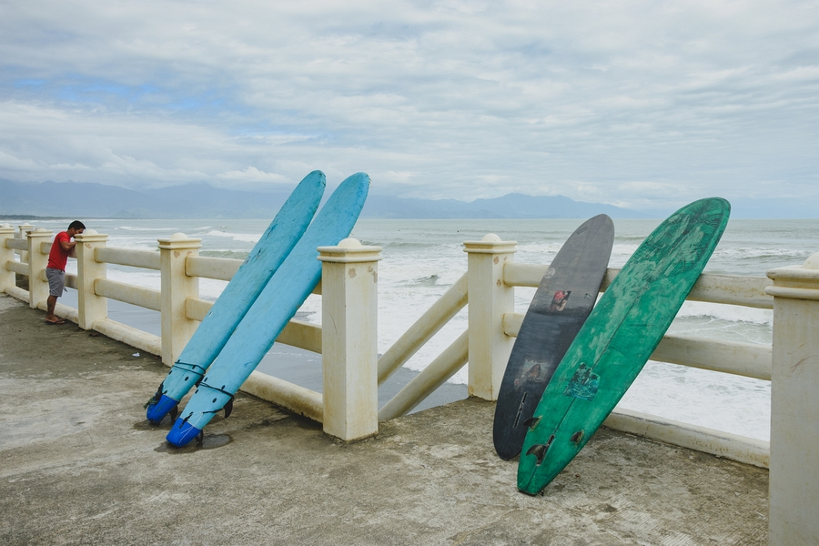 surfing boards in Aurora Baler
