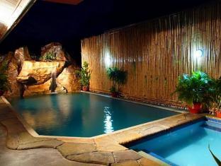 hot spring, rainy