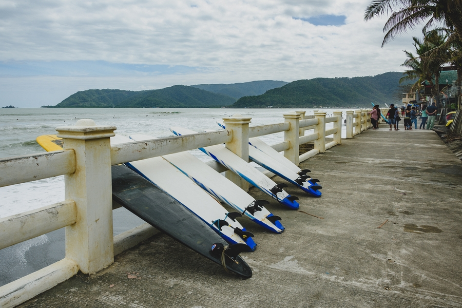 surfing boards in Baler